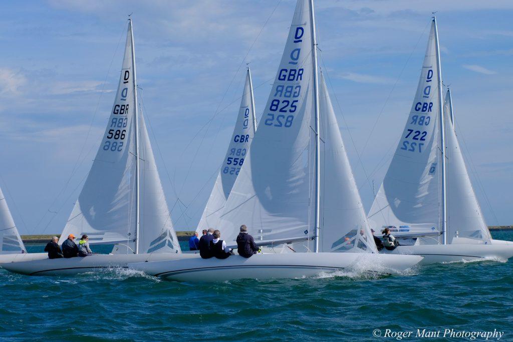 British Dragon keelboats racing in Kent